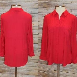Lane Bryant Chiffon Button Front Shirt HW3533